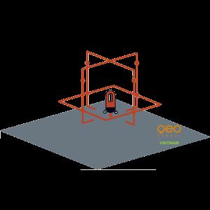 Máy đo cân bằng laser FL69 HP | Hình chiếu