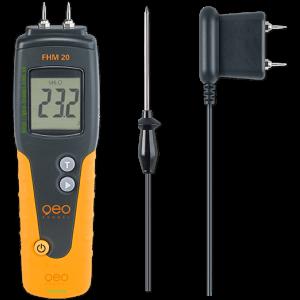 Máy đo độ ẩm tường dạng kim cầm tay điện tử FHM20 | Máy đo độ ẩm tường cầm tay