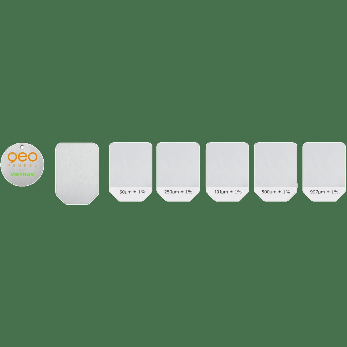 Máy đo độ dày lớp phủ FCT1 Data | Bộ mẫu độ dày chuẩn.