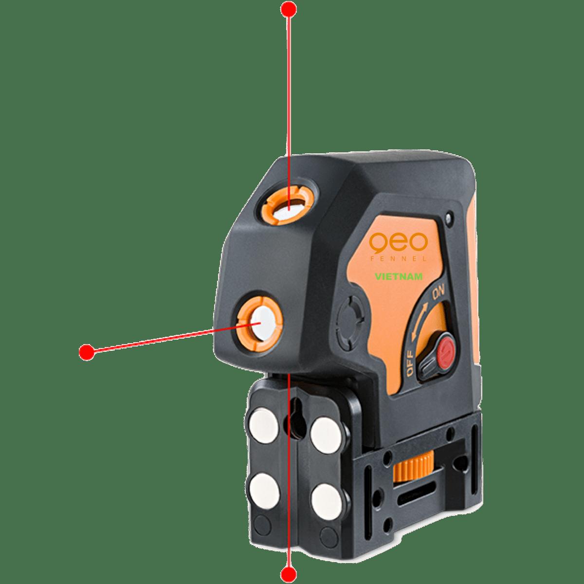 Lập lòn laser GEO3P | Mặt đế 4 nam châm
