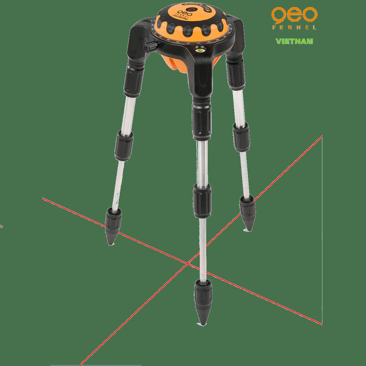 Máy đo vuông góc laser GEOSPIDER | Nhện laser chân cao