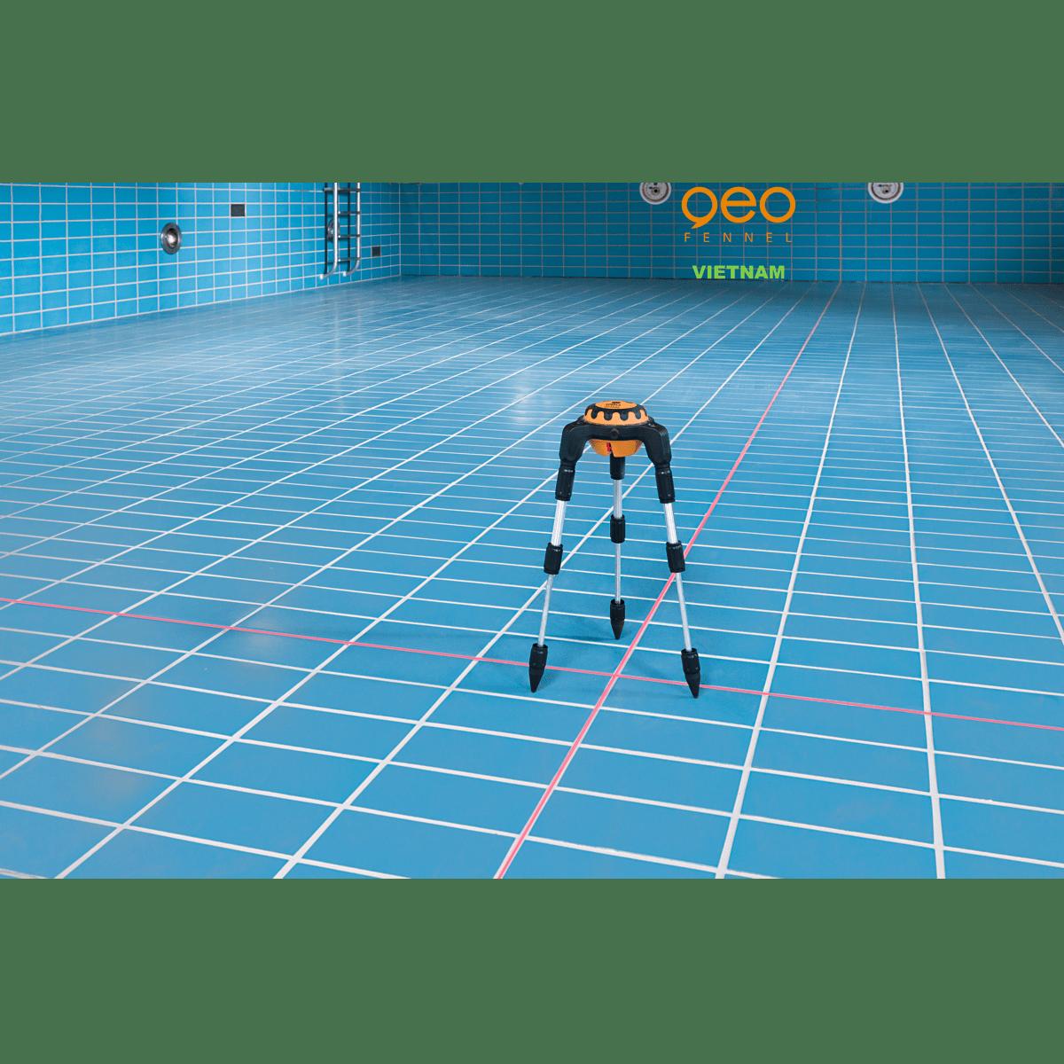 Máy đo vuông góc laser GEOSPIDER | Nhện laser | Lát gạch hồ bơi